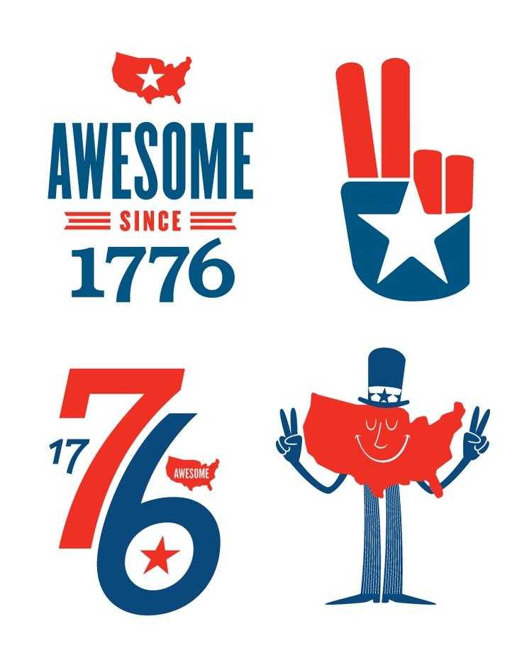 america 4th july 1776