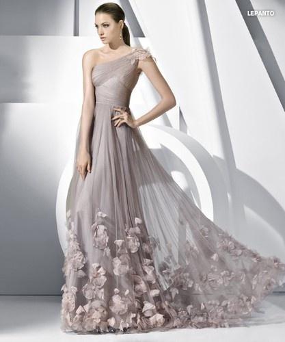 Design Grau Brautkleid Abendkleid Ballkleid Hochzeitskleid Gr:32/34/36 ...