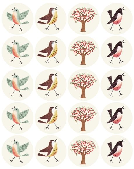 love these sweet bird labels - several free printable formats are available