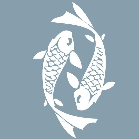 Koi fish wall decal laptop decal wall stickers car decal for Koi fish wall stickers