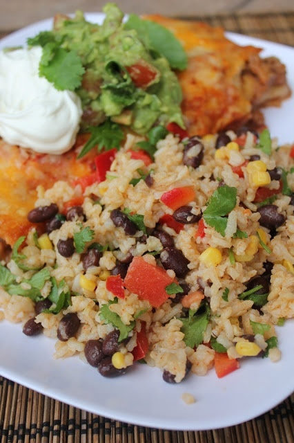 Fiesta Lime Rice Salad--healthy, full of flavor and a simple side for ...