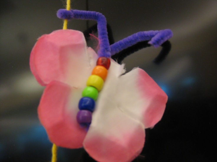 Beads, pipe cleaners, floss or yarn, and petals from fake flowers - easy, inexpensive and great fun.