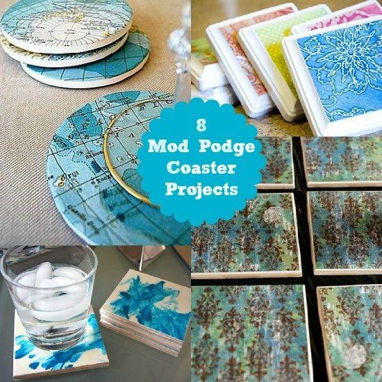 8 mod podge coasters ideas a quick weekend craft for Modge podge ideas