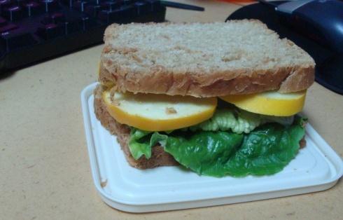 Hummus and Raw Summer Squash Sandwich with Greens (no recipe) Add ...