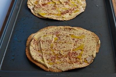Mediterranean Tostadas with Hummus, Feta, and Kalamata Olives | Recipe