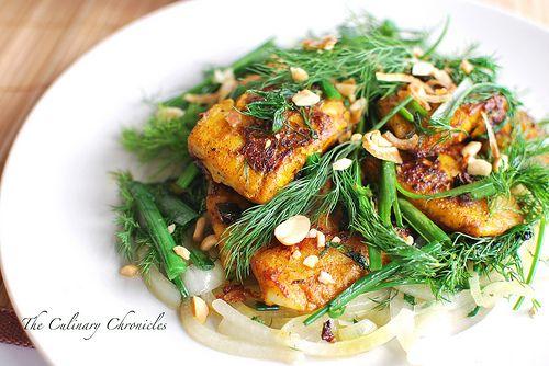 Chả Cá Thăng Long (Vietnamese Style Fish with Turmeric & Dill)
