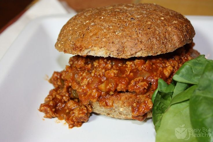 Turkey Sloppy Joes | Busy But Healthy. starting to love this site ...