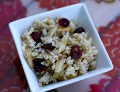 Cranberry almond rice   Yum   Pinterest
