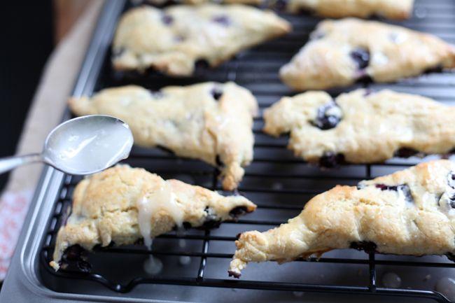 Blueberry scones with lemon glaze | Breads | Pinterest
