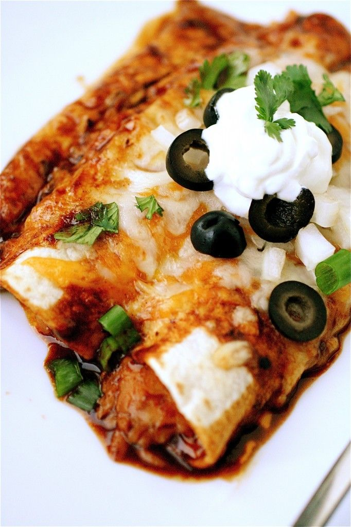Vegetarian Enchiladas... dollop! | SANS FACE | Pinterest