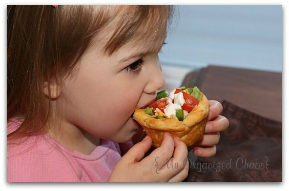 Biscuit Taco Cups from My Organized Chaos blog