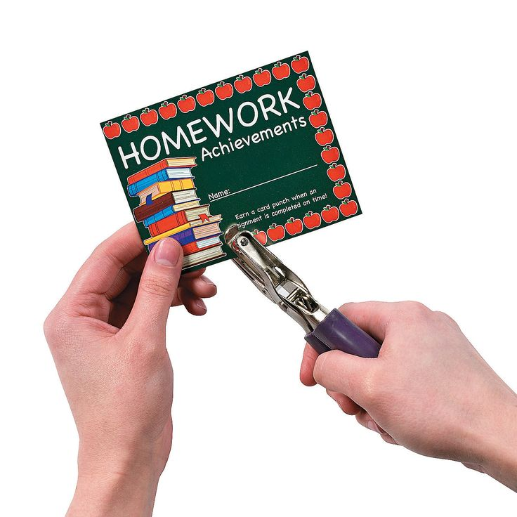 teaching homework punch cards