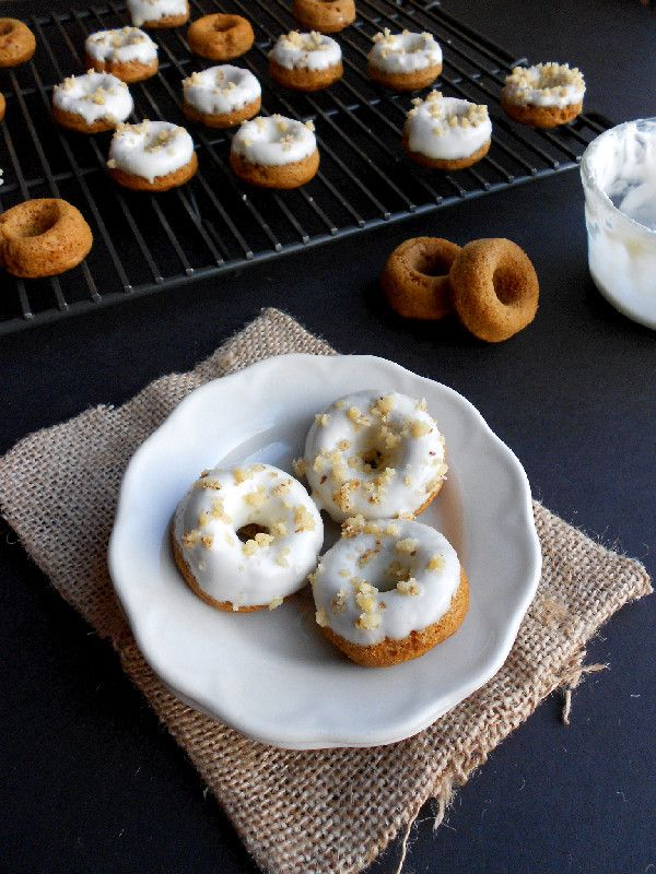 Baked Mini Carrot Cake Donuts | Sweeties | Pinterest