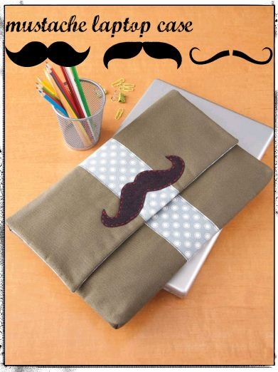 Heck yes! Mustache laptop case :) #sew