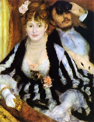 """""""The Theater Box"""" 1874, by Renoir"""