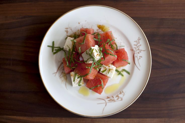 Watermelon, Mint & Feta Salad | Spinach&Arugula.Salads | Pinterest