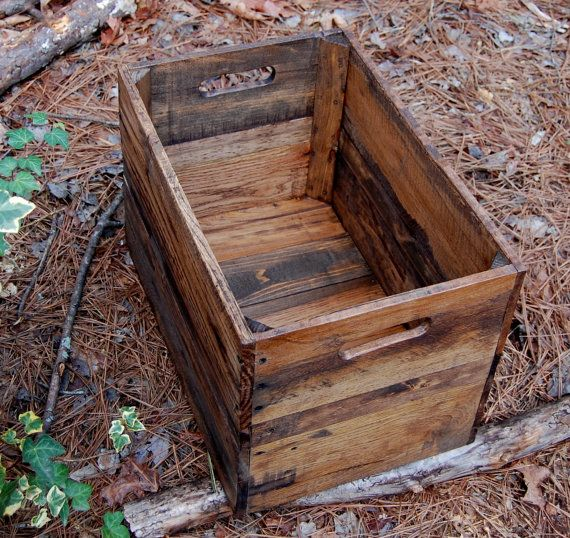 Medium provincial wooden crate from reclaimed wood for Where to find old wooden crates
