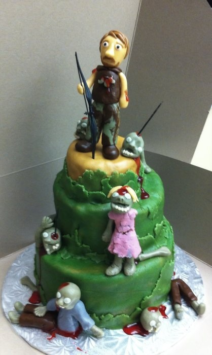 Daryl Walking Dead  Cake by AngEdibleCreations