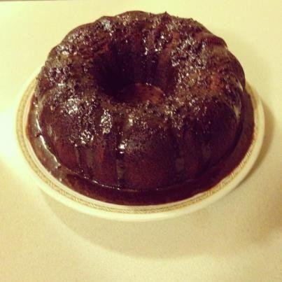 "Chocolate Rum Cake (scratch, no cake or pudding ""mix"")"