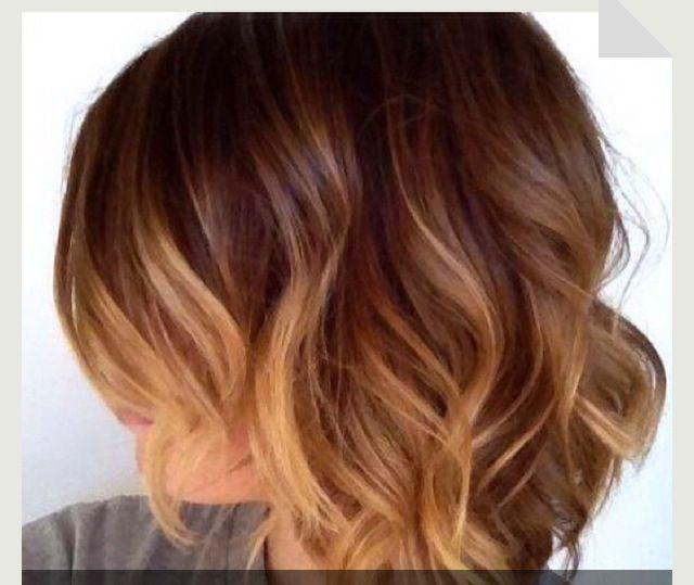 Short Wavy Ombr 233 Hairstyles Pinterest