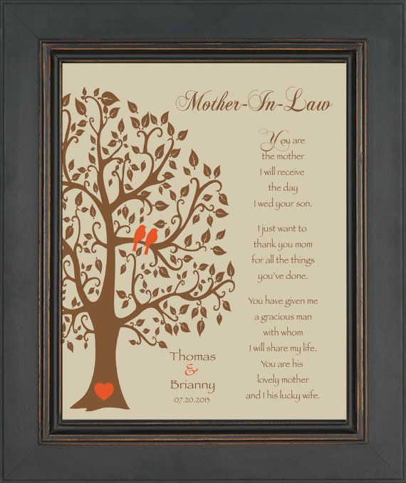 Wedding Gifts For Mom : Wedding Gift for Mother In-LawFuture Mom In-Law GiftThank You ...