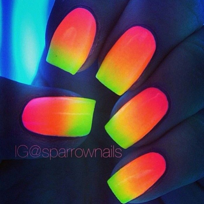 Glow in the dark nail polish | nails | Pinterest