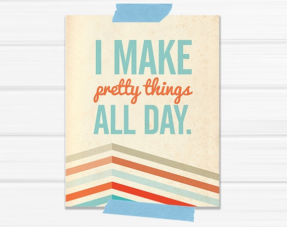"""I make pretty things all day,"" I want this for my craft room!"