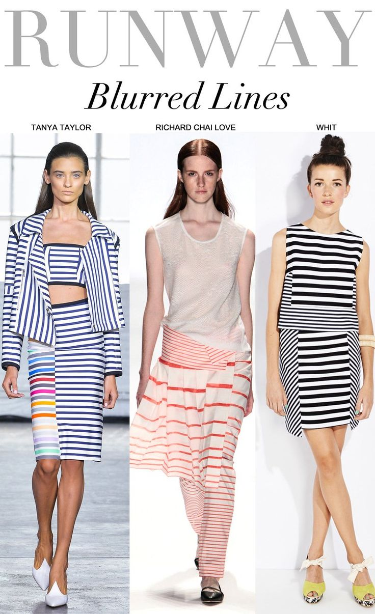 Trend Council: NYC Spring 2014 Runway BLURRED LINES