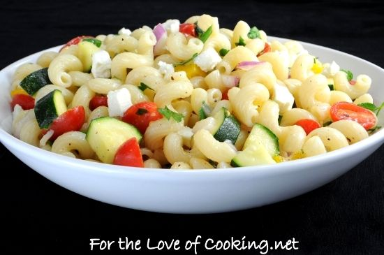 pasta salad with zucchini | I can taste it just looking at it. | Pint ...