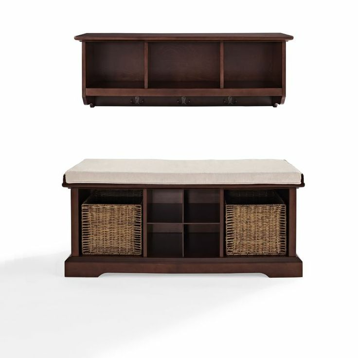 brennan 2 piece entryway bench and shelf set. Black Bedroom Furniture Sets. Home Design Ideas