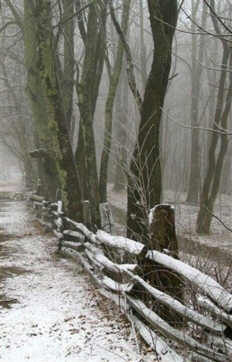 country rail fence winter - photo #2
