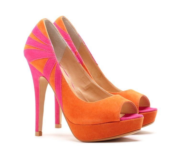 i orange and pink together shoes