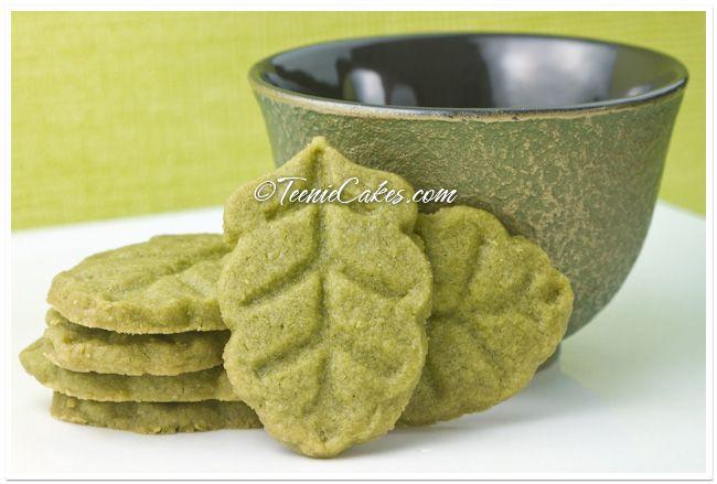 Green Tea (Matcha) Shortbread http://www.teeniecakes.com/2010/10/green ...