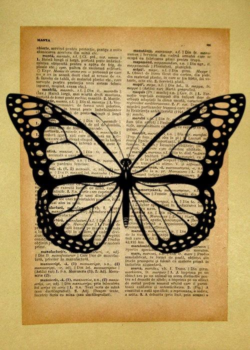 butterfly vintage printVintage Butterfly Print