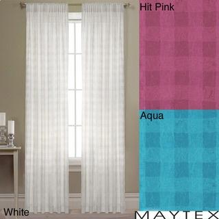 Maytex lynette 84 inch semi sheer window panel overstock com