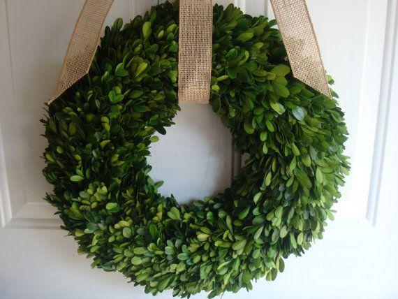 Preserved boxwood wreath fall wreath autumn wreath wedding wreath