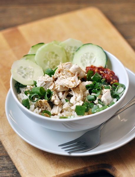 chicken with rice. Poached chicken with garlic and ginger, the chicken ...