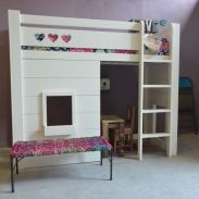 kinderbedden: witte meisjes hoogslaper  Little girls room  Pintere ...