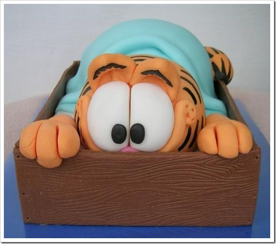 Garfield Cake | Let's Eat Cake | Pinterest