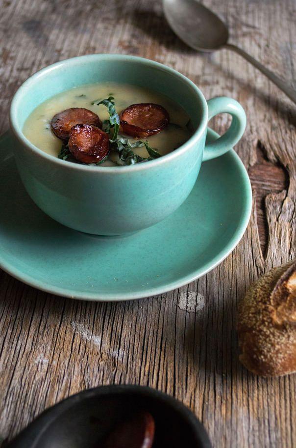 Caldo verde {green soup} (He Needs Food) | Soups and Stews | Pinterest