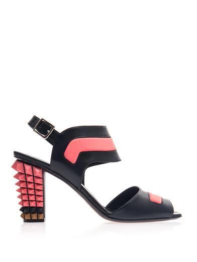 Shop now: Fendi studded heel sandals