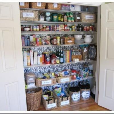 Small Closet Pantry Idea Organiza Tu Hogar Pinterest