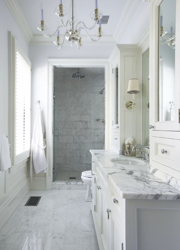 Carrera marble bathrooms pinterest for Carrera bathroom ideas