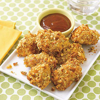 Pretzel-Crusted Chicken Nuggets   Recipe