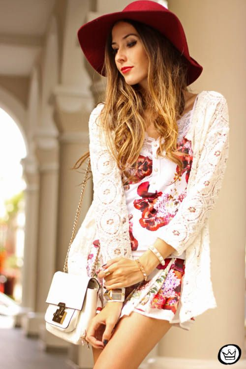 Floral Print Street-Style
