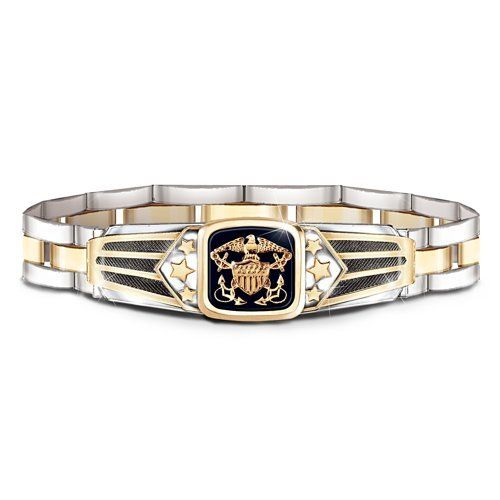 ... Pride Navy Men's Bracelet by The Bradford Exchange Bradford Exchange