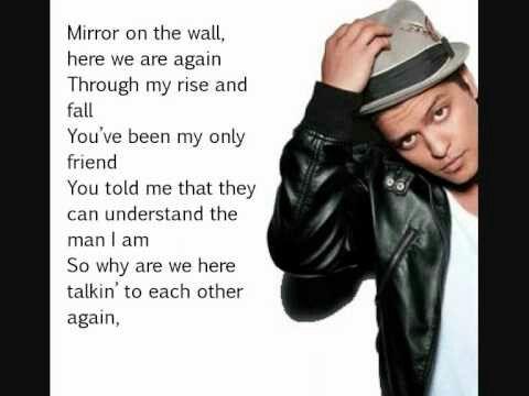 Bruno mars mirror on the wall lyrics pinterest for Mirror mirror lyrics