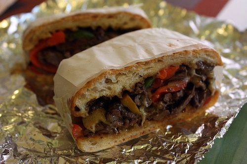 Skirt-Steak Sandwich at Beach Street Eatery in Tribeca