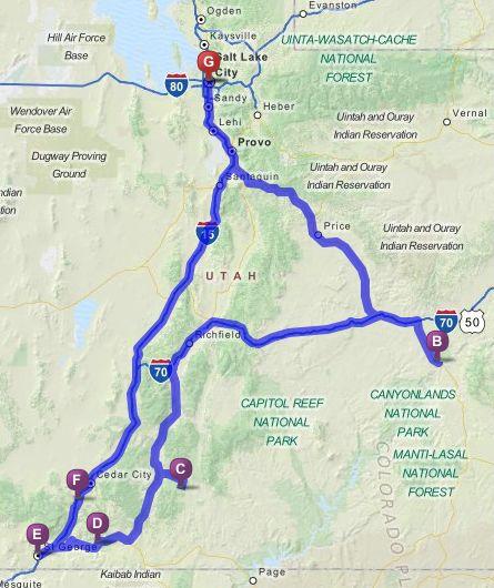 utah national parks grand canyon road trip