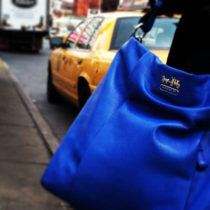 ... Isabelle Coach bag in cobalt. WANT!!! #handbags #purses #louisvuitton